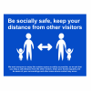 Be Socially Safe Replacement Foamex Panel - 650 x 450mm – Blue