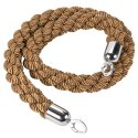 Twisted Bronze Barrier Ropes with Chrome Ends
