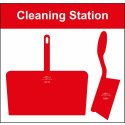 Cleaning Shadow Board - Style D - Red - Board Only