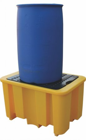 Single Drum Spill Pallet, 250 Litres Capacity